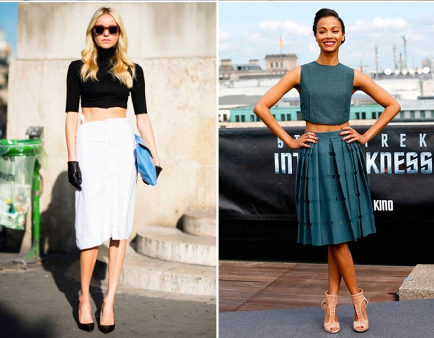 Crop Top with Dress Pants/skirts