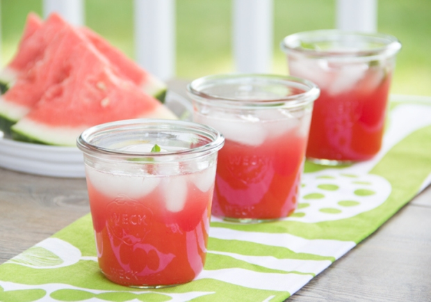 Watermelon and Basil Cooler