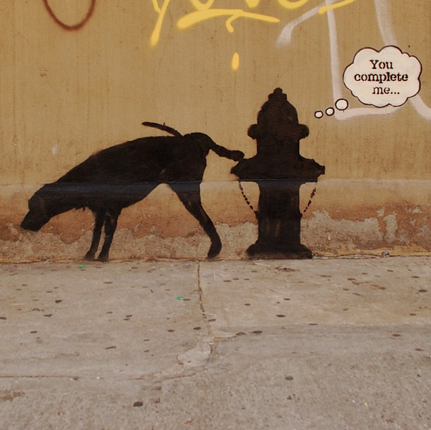 Banksy-NYC-You-Complete-Me-Dog-Fire-Hydrant